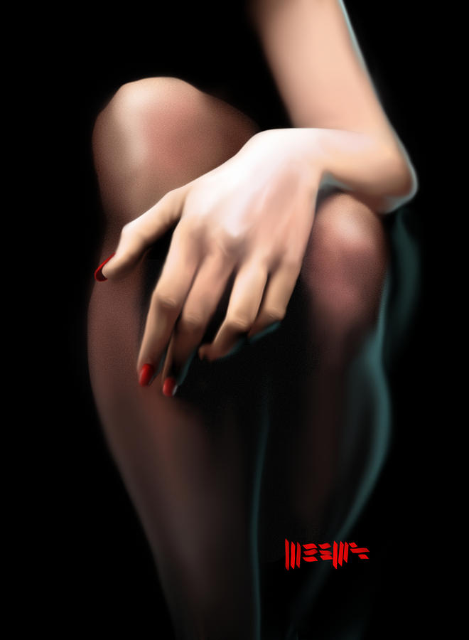 Legs Painting - Waiting by Dillan Weems