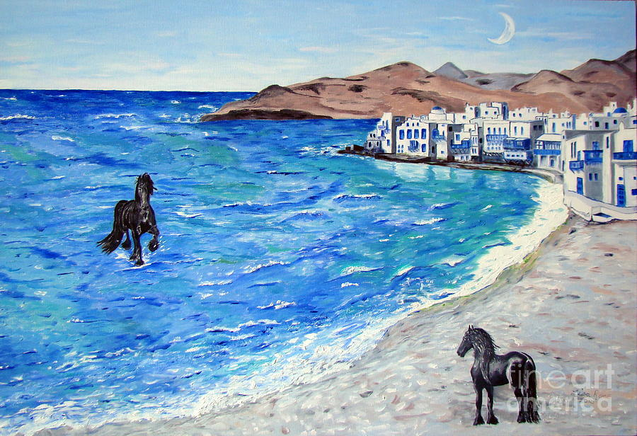 Ocean Painting - Waiting For A Friend by Lisa Rose Musselwhite