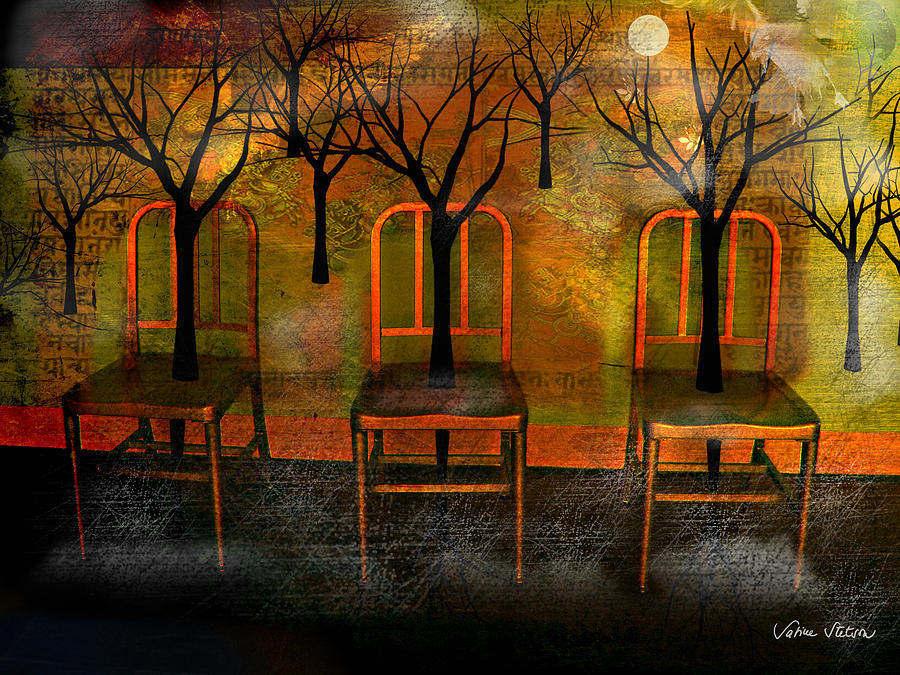 Moon Digital Art - Waiting for a miracle by Sabine Stetson