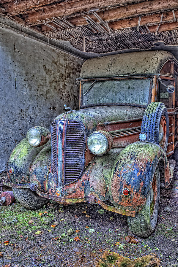 Old Car Photograph - Waiting For A Part by Jim Dohms