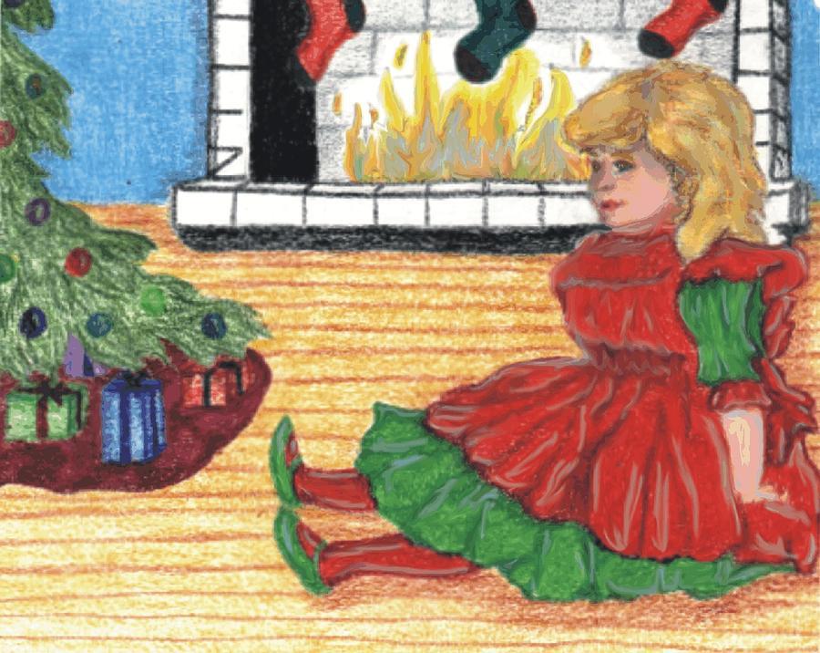 Christmas Drawing - Waiting For Christmas by Jennifer Skalecke