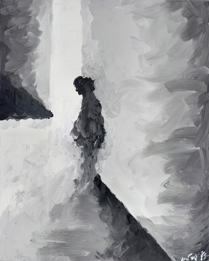 Abstract Painting - Waiting For Her Audition by Steve Park