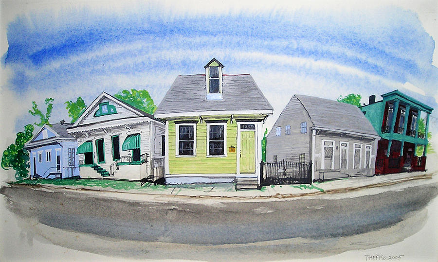 Cottage Painting - Waiting For Katrina by Tom Hefko