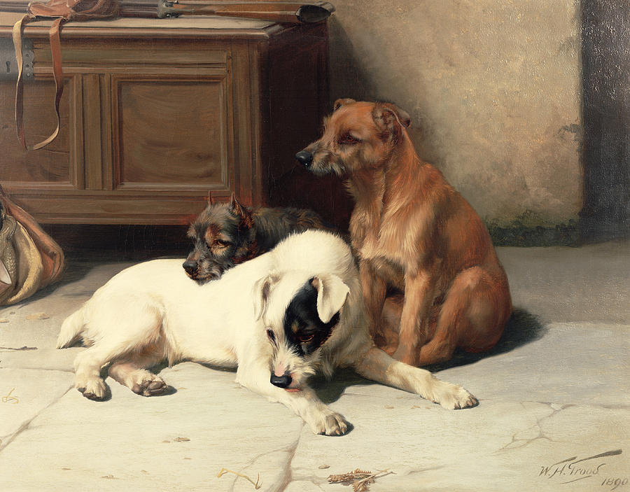 Mongrel Painting - Waiting For Master by William Henry Hamilton Trood