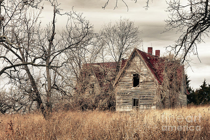 Old House Photograph - Waiting For New Owners by E Mac MacKay