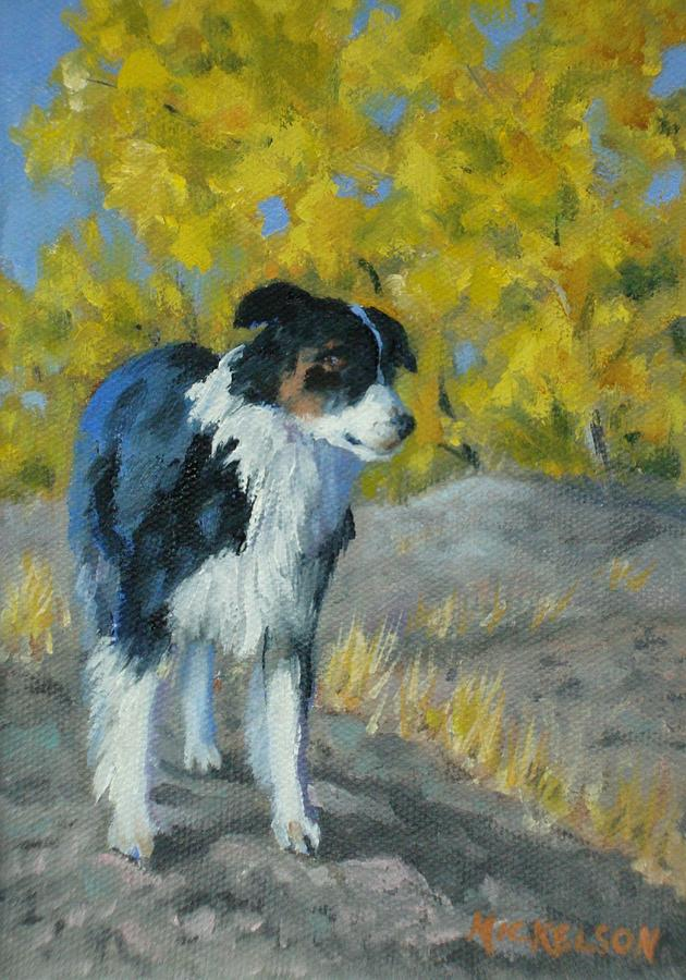 Dog Painting - Waiting For Orders by Debra Mickelson