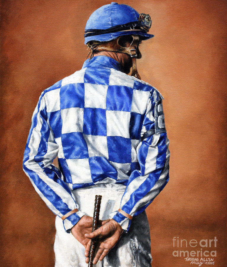 Secretariat Painting - Waiting For Secretariat by Thomas Allen Pauly