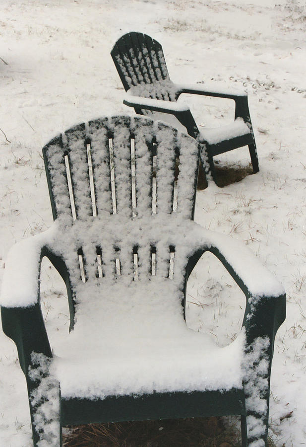 Chairs Photograph - Waiting For Spring by Diana Davenport