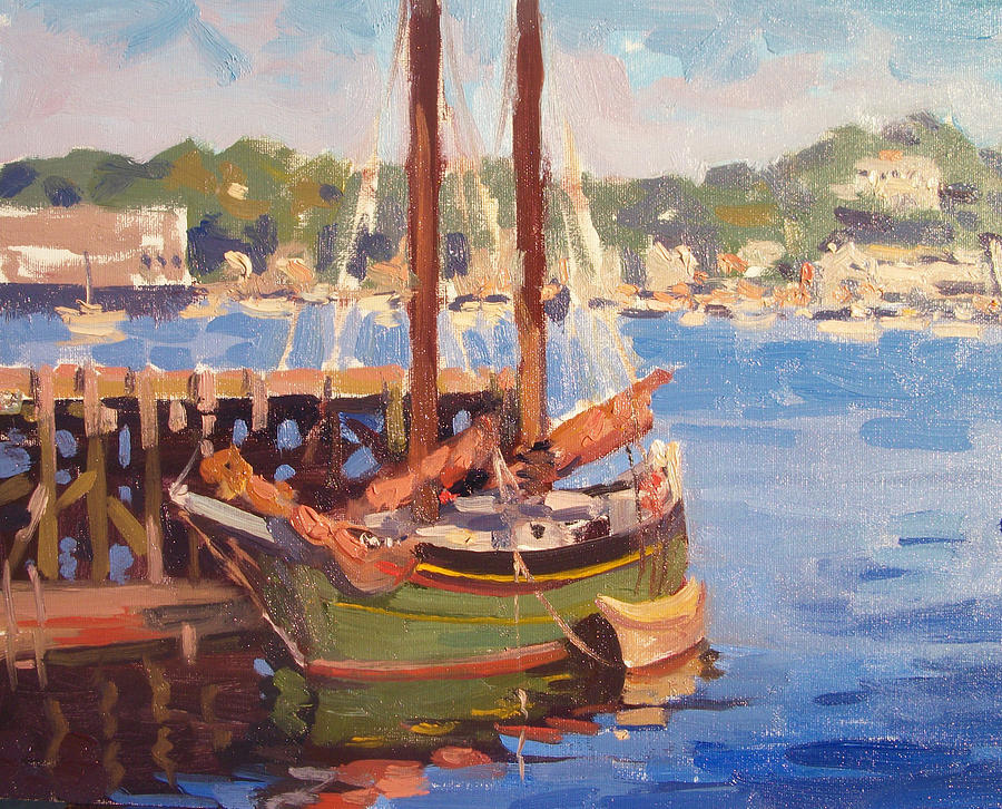 Sunset Cruise Painting - Waiting For Sunset by Dianne Panarelli Miller