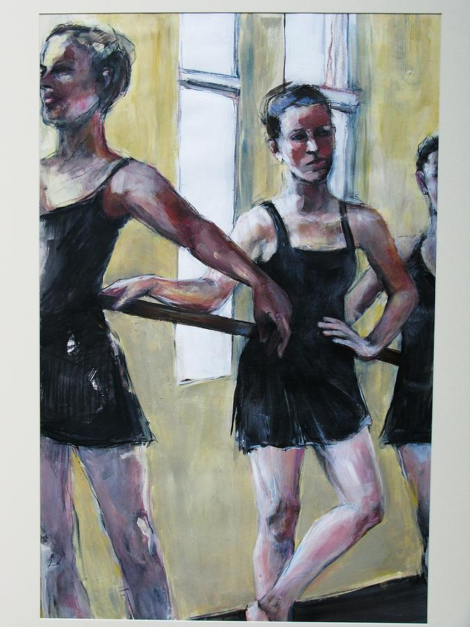 Dancers Painting - Waiting For The Music by Michelle Winnie