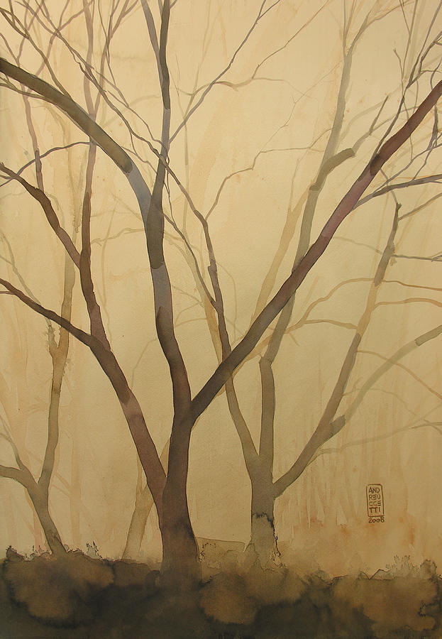 Tree Painting - Waiting For The Spring by Alessandro Andreuccetti