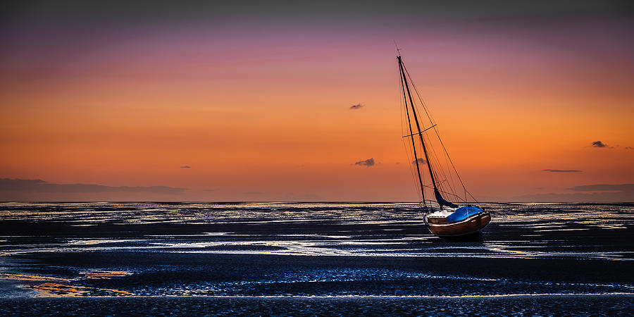 England Photograph - Waiting for the Tide by Peter OReilly
