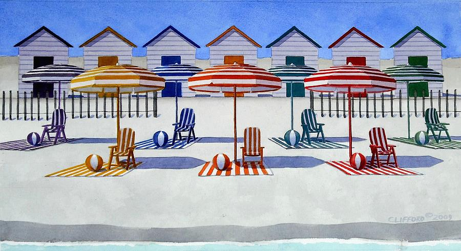 Beach Painting - Waiting For The Tourists by Cory Clifford