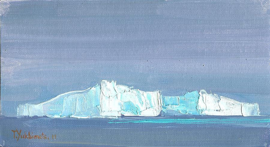 Iceberg Painting - Waiting For Titanic by Tania Yukhimets
