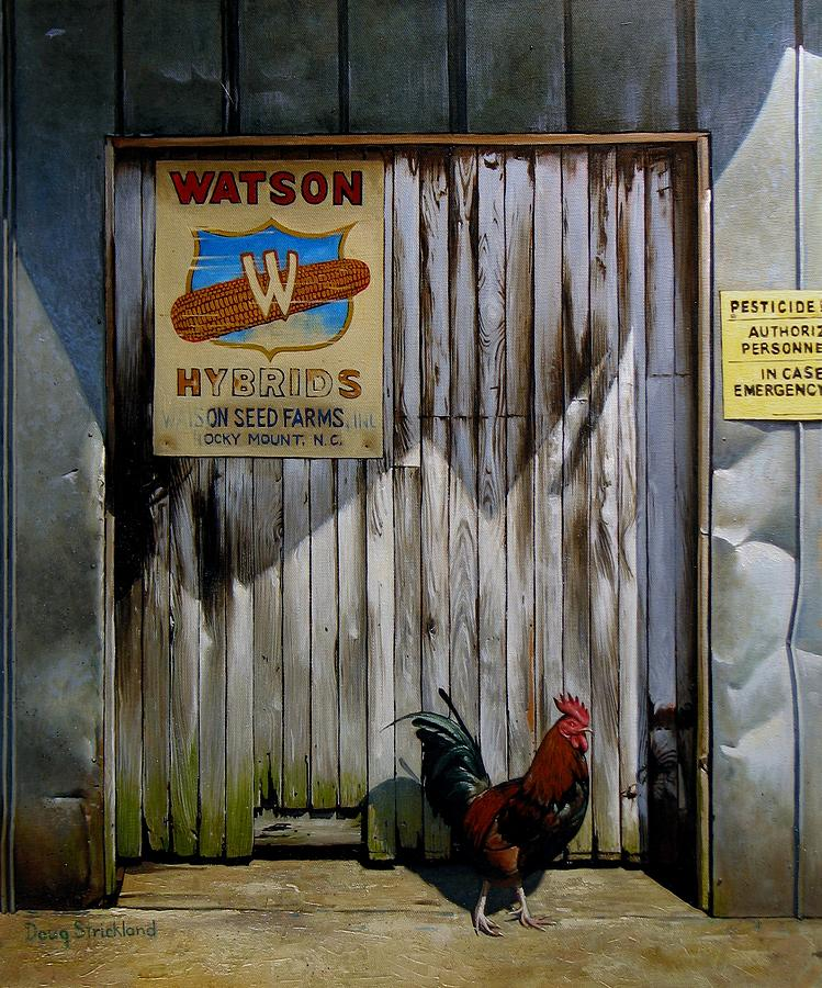 Antique Painting - Waiting For Watson 2 by Doug Strickland