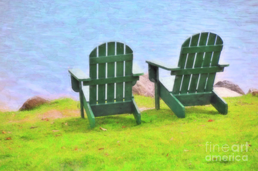 Chairs Photograph - Waiting For You by Betty LaRue