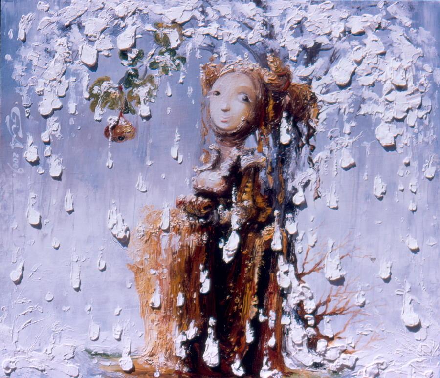Tree Painting - Waiting by Gia Chikvaidze