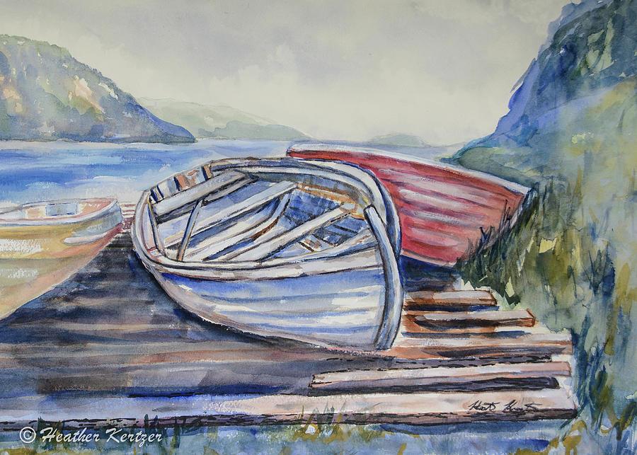 Newfoundland Painting - Waiting by Heather Kertzer