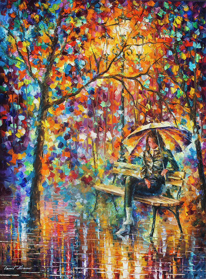 Painting Painting - Waiting In The Rain by Leonid Afremov