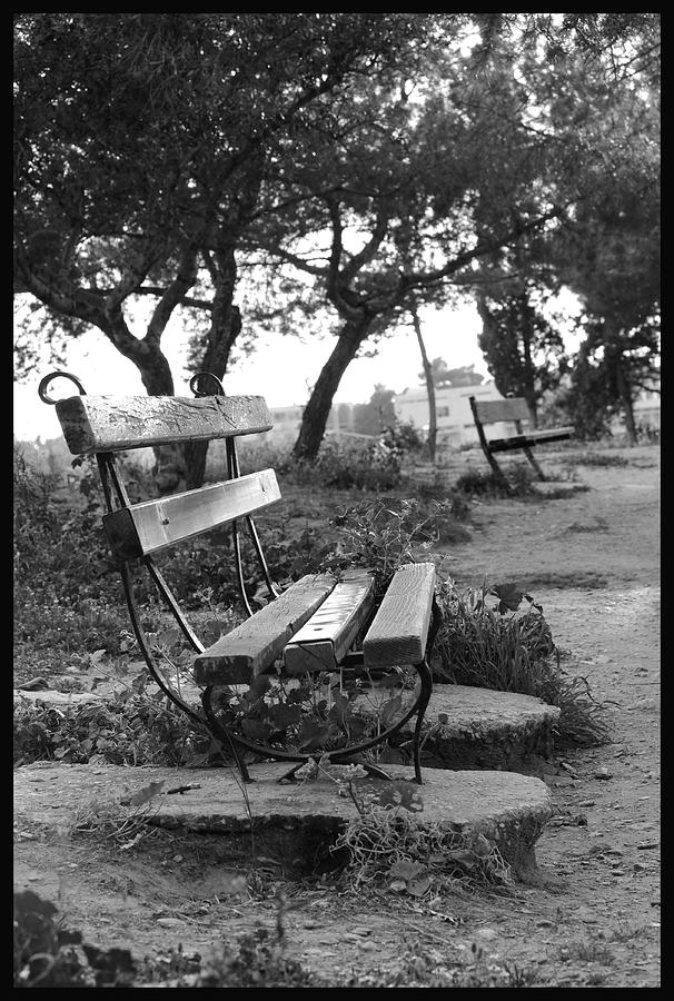 Black And White Photograph - Waiting by Julia Bridget Hayes