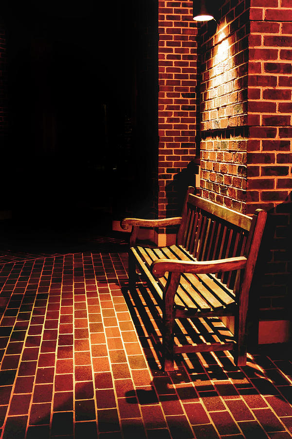 Bench Photograph - Waiting by Keith Bowen