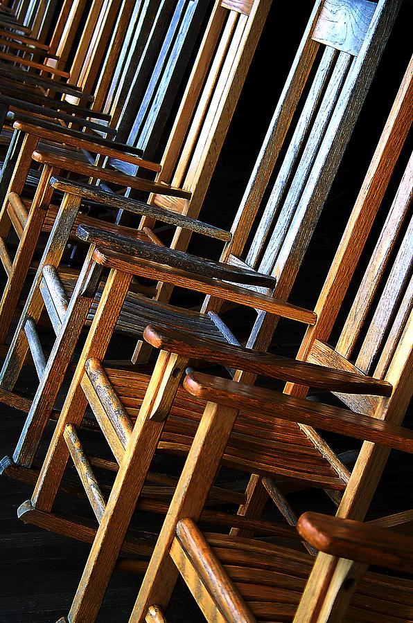 Chairs Photograph - Waiting by Lynda Lehmann
