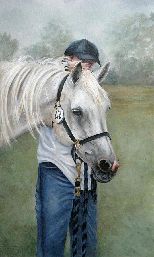 Horse Painting - Waiting by Mary McCullah