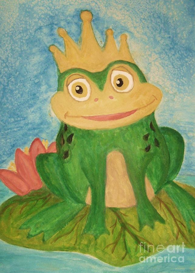 Frog Painting - Waiting by Nan Hand