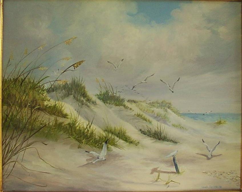 Seascape Painting - Waiting On The Tide by Wanda Dansereau
