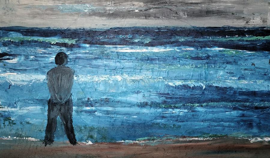 Sea Painting - Waiting by Peter Bienkowski