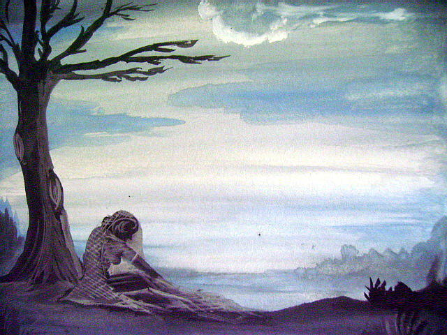 Landscape Painting - Waiting by Prashant Vasava
