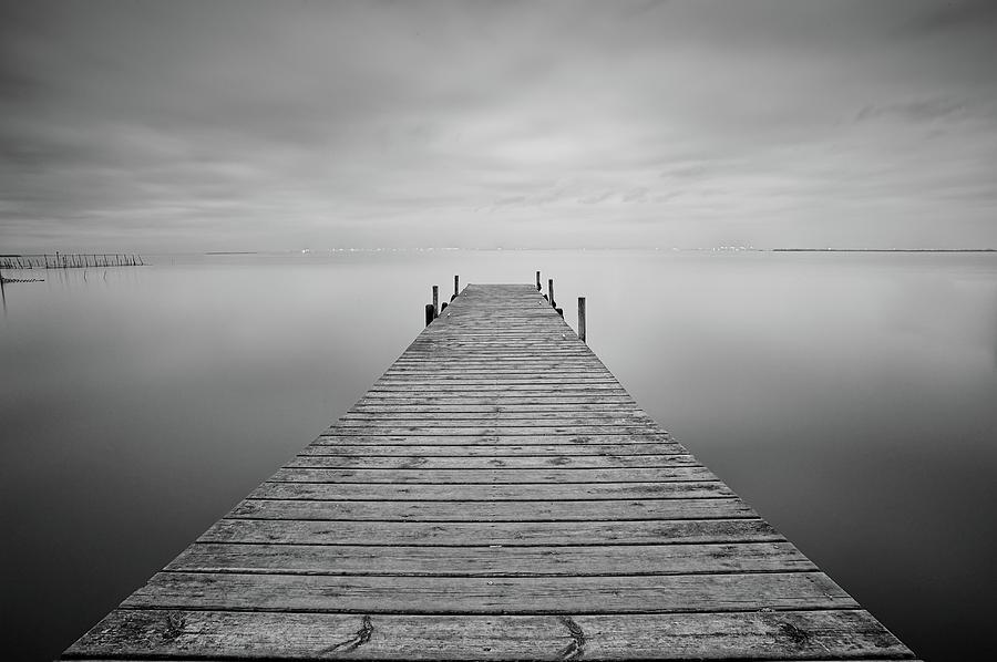 Horizontal Photograph - Waiting Rain by Cesar March