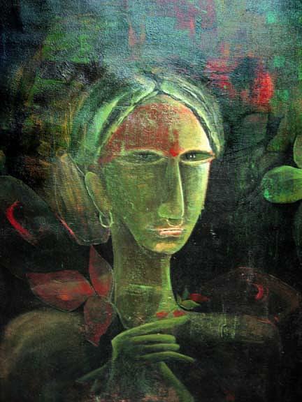 Waiting Painting by Satyabrata Adhikary