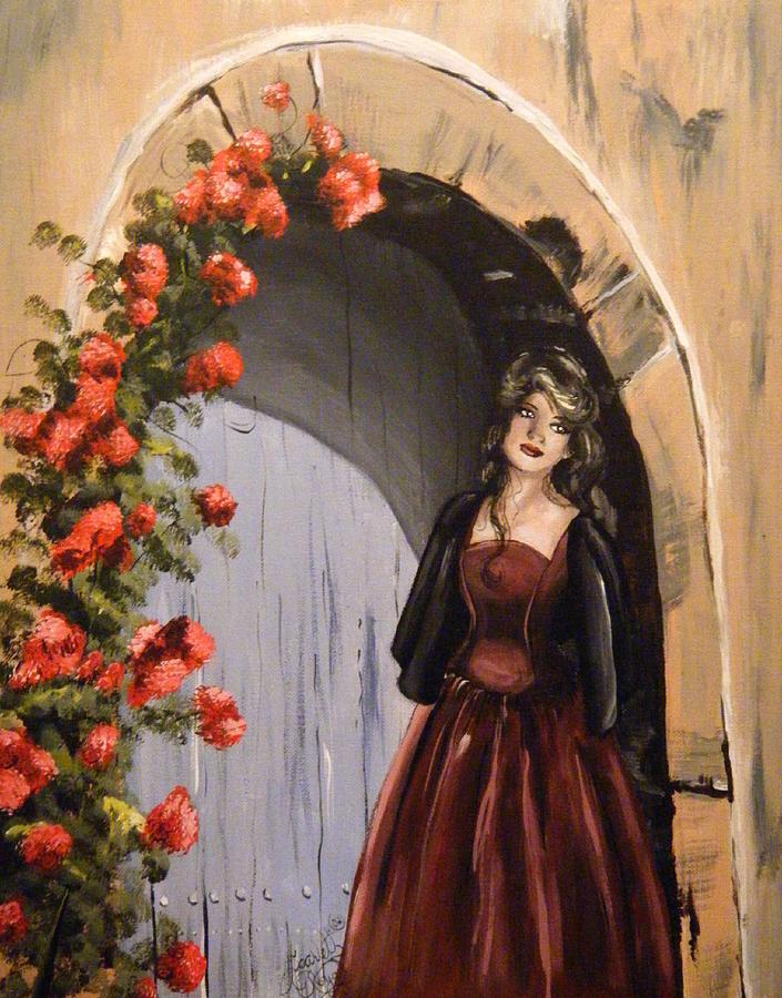 Door Painting - Waiting by Scarlett Royal