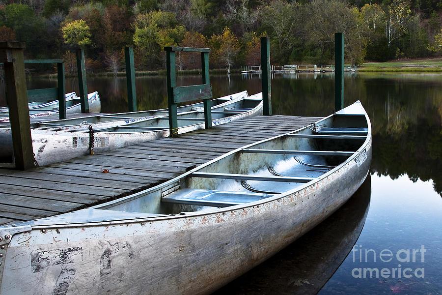 Canoe Photograph - Waiting by Tamyra Ayles