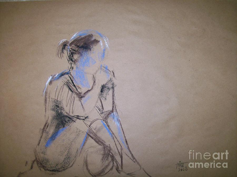 Figurative Painting - Waiting by Tina Siddiqui