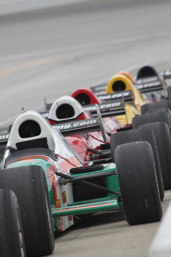 Indy Car Photograph - Waiting To Run by Lauri Novak