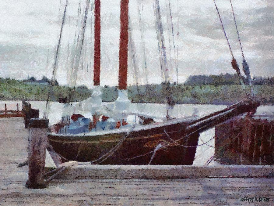 Canadian Painting - Waiting To Sail by Jeff Kolker