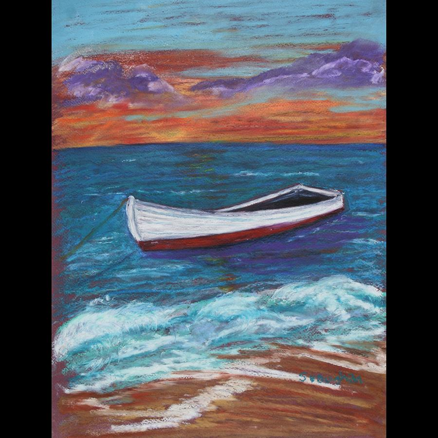 Boat Painting - Waiting To Sail by Susan Vaughan