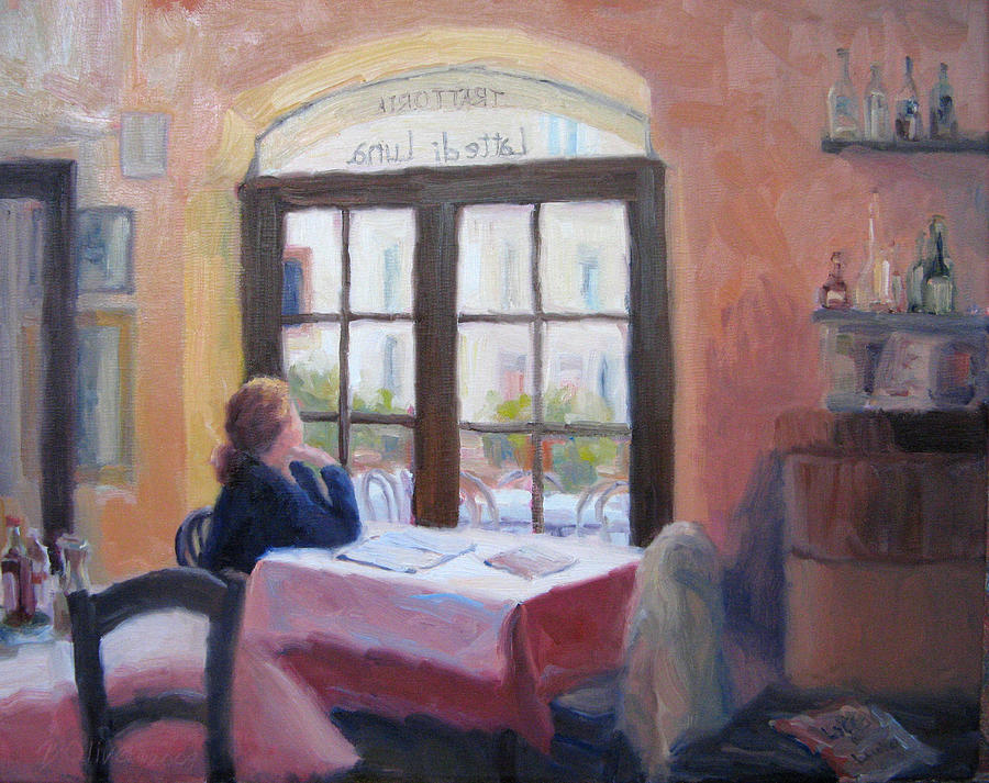 Interior Painting - Waiting Wistfully by Bunny Oliver