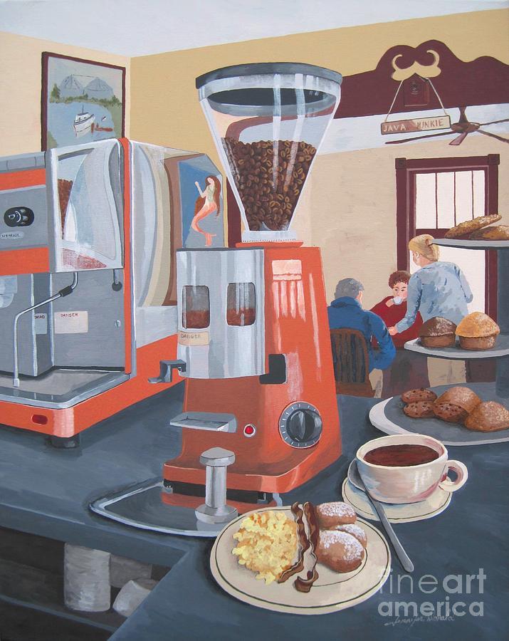 Coffee Painting - Wake Me Up by Jennifer  Donald