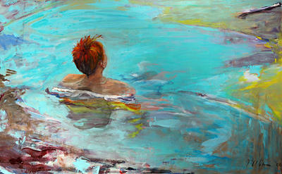 Boy Painting - Wake by Michelle Winnie