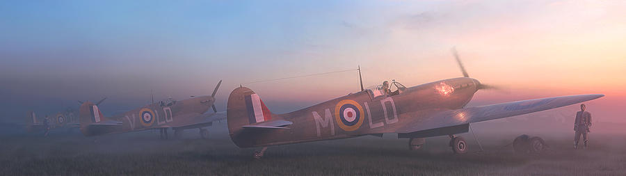 Spitfire Painting - Wake Them Up by Hangar B Productions