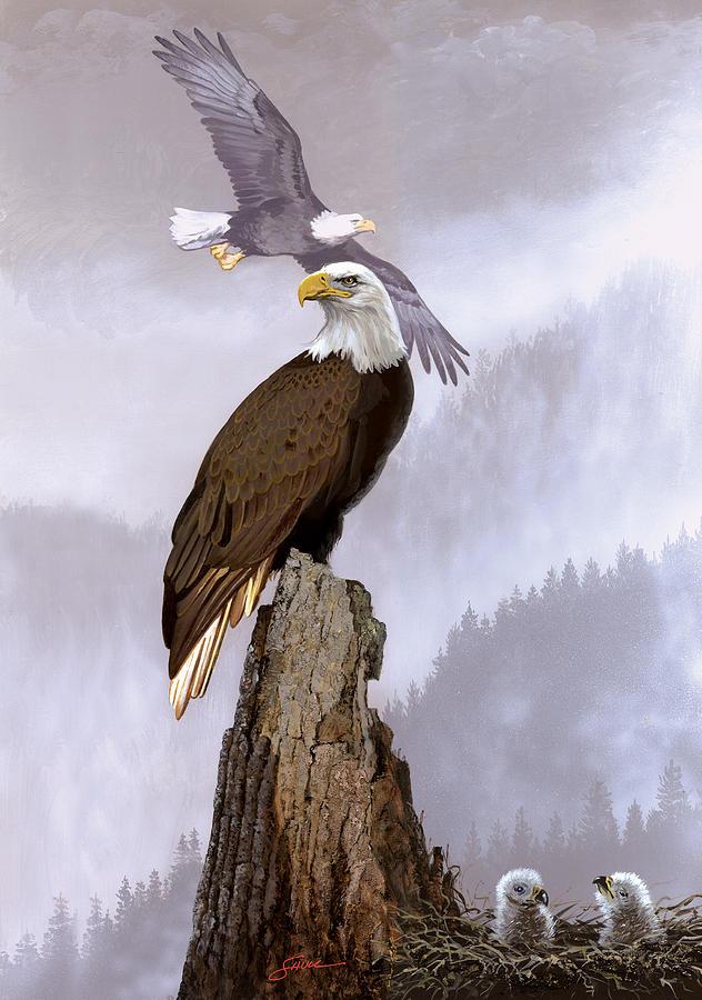 Wildlife Painting - Wake Up Call by Harold Shull