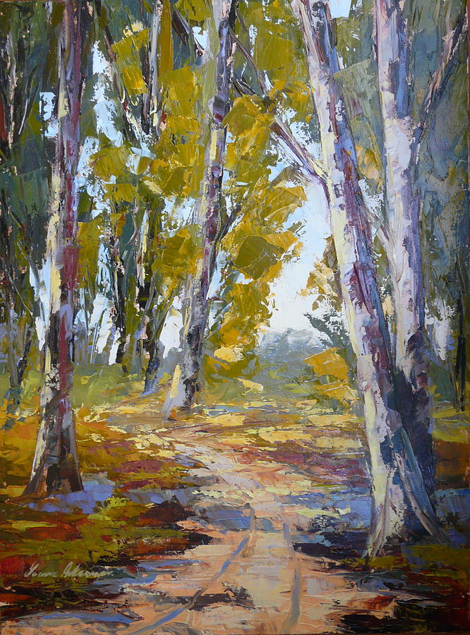 Lanscape Painting - Wakkerstroom Gums by Yvonne Ankerman