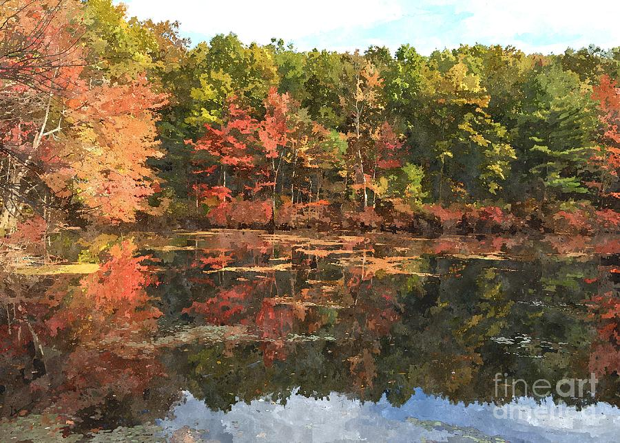 Autumn Photograph - Walden Pond by Bryan Attewell