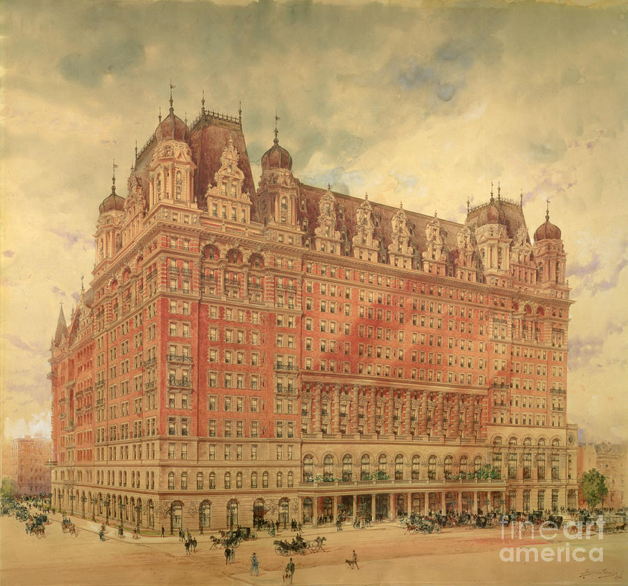 Waldorf Astoria Hotel Painting - Waldorf Astoria Hotel by Hughson Frederick Hawley