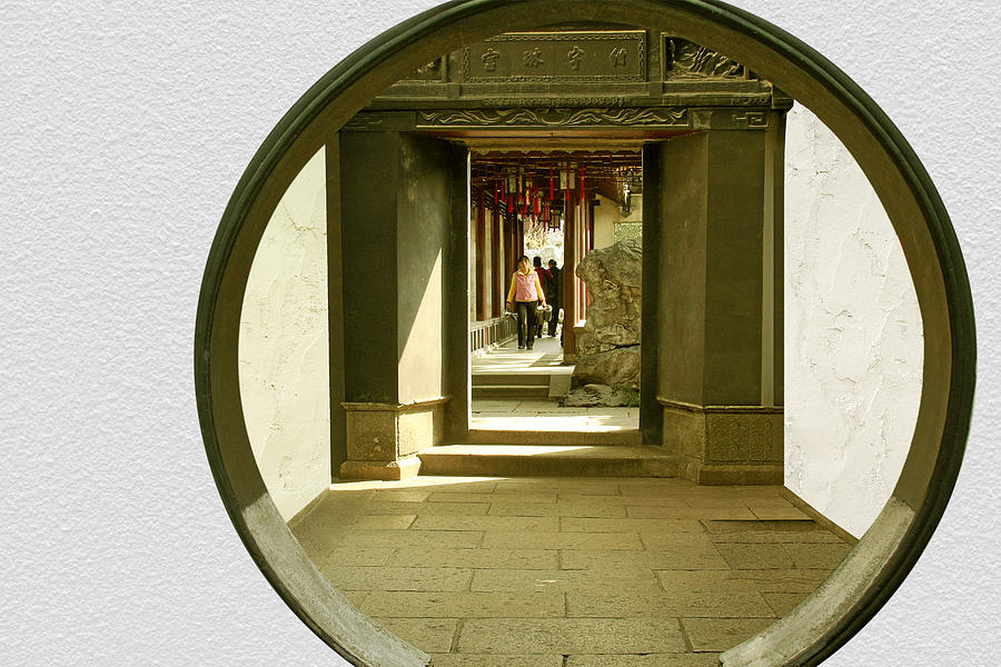 Archway Photograph - Walk Into The Light - Yuyuan Garden Shanghai China by Christine Till
