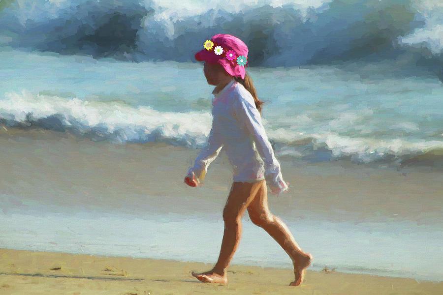 Walk On The Beach Photograph