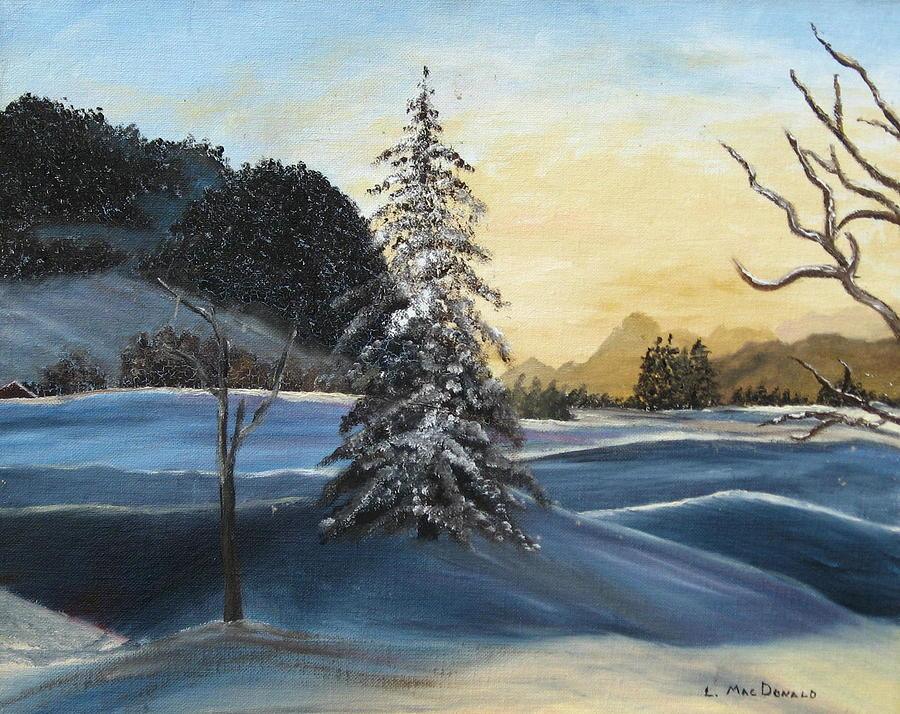 Landscape Painting - Walk On Walk On by L A Raven